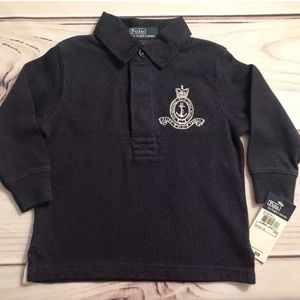 $50 NWT Ralph Lauren Polo Toddler LS Navy
